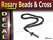 Rosary Beads + Cross Decal Sticker 9.50x11.50cm,Religious,HQ.vinyl- All Surfaces