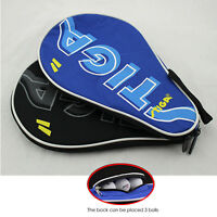 NEW Stiga Table Tennis Bat Case Ping Pong Paddle Cover Portable Bag Black / Blue