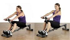 Rowing Gym Machine Exercise Rower Glider Ab Leg Arm Back Cardio Workout Full New