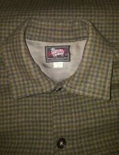VINTAGE 1940'S WOOLRICH FLANNEL PLAID JACKET BUTTON hunting GREEN MENS 42