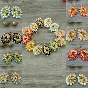Aretes de mujer de cristal mayoreo  lote 20 pares / joyeria artesanal Méxicana