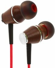 Symphonized XTC 2.0 Earbuds with Mic Premium Genuine Wood Stereo Earphones Cable