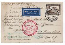4M Sudamerika Ovpt on Postcard 1930 Graf Zeppelin Flight
