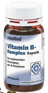 200 Kapseln Vitamin B Komplex (inkl. Folsäure) - Revomed