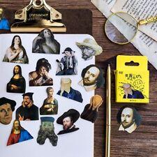 45Pcs/lot Celebrity Great Person Art Mini Sticker Decor Scrapbooking Diary Label