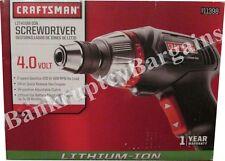 Craftsman 4 volt Lithium Battery Ion Screwdriver Cordless Bit Set Kit CM 9-11398