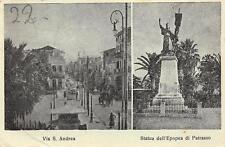 C4200) WW2 GRECIA, RICORDO DI PATRASSO 1941 VIA S. ANDREA E STAVIA EPOPEA. VG.