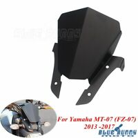 1x CNC Aluminum Windshield Windscreen Deflector For Yamaha MT-07 FZ-07 2013-2017