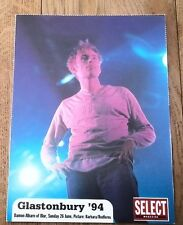 BLUR 'Glastonbury 1994' ' unused postcard from Select magazine 6x4 inches