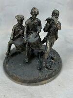 """Cast Metal  FIFE & DRUM CORPS Revolutionary War Figure 3 1/2"""" Tall A843"""