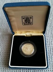 1986 UK One Pound Silver Proof Coin, Northern Ireland Flax, cased