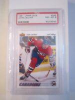 1991 JOHN LECLAIR #345 HOCKEY CARD PSA GRADED 8 NM-MINT