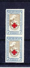 ESTONIA  1921  Mi 30AUw  ERROR : WITHOUT HORIZONTAL  PERFOR. MINT NO GUM  PAIR