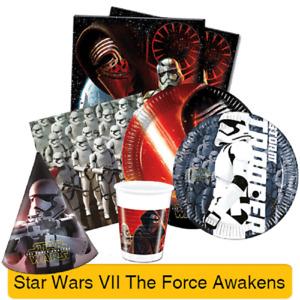 STAR WARS VII (The Force Awakens) Birthday PARTY RANGE (Decoration/Tableware)