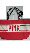 Victoria's Secret PINK Double Straps Tote Bag Beach Bag Hot Pink