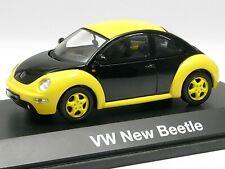 Schuco 1:43 VW New Beetle gelb-schwarz # 04538
