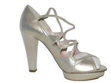 Magrit Metalic Gold High Heeled Sandal NIB Size UK 4 EU 37 SP £299