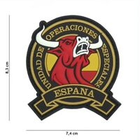 Airsoft morale patch PVC 3D  Toro Operaciones Especiales Spain hook and loop ET
