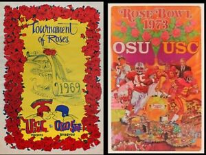 1969 & 1973 Rose Bowl Posters - USC vs Ohio State