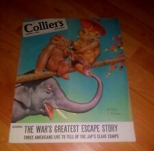 Collier's Magazine; March 3, 1945 WWII Issue **Jap's Slave Camp, more**