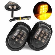 2x Set Motorcycle 12V Flush Mount 9 LED Turn Signal Blinker Light Lamp Amber New