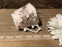 Antique Vintage Hand Painted Pink, Gold Butterfly & Floral, Thin Porcelain Cup