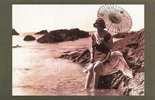 Postcard Nostalgia July 1921 Bathing Fashion at Pymouth Devon Reproduction Card