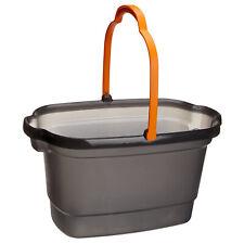Casabella 4 Gallon Durable All Purpose Rectangular Bucket with Pour Spout, Gray
