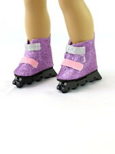 Rollerblade For 18 in American Girl Doll Purple Glittery Accessories Clothe
