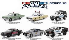 GREENLIGHT 1:64 HOT PURSUIT SERIES 18 ASSORTMENT Police & Fire Vehicles Set Of 6