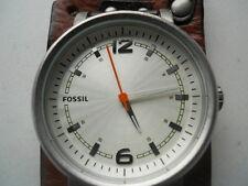 Fossil men's brown leather,quartz,battery & water-resistant dress watch.JR-1016.