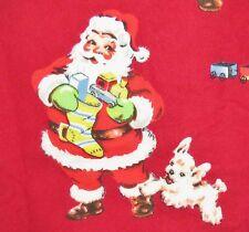 NEW Nick&Nora 2pc Flannel pjs VINTAGE SANTA RED VELVET sz XS pajamas
