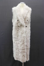 .NWT $11725 Brunello Cucinelli Women's Luxe Cashmere Fur Sleeveless Coat Sz 42/M