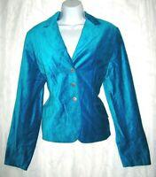 George Velvet Teal Green Embellished Bling Button Women's Jacket 12 Large NWT