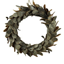 Birch Bark Rustic Wreath - Round 28cm - Christmas Decoration - Shabby Chic