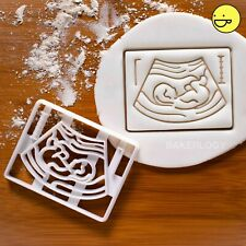 Pregnancy Ultrasound Scan cookie cutter | announcement birth baby party pregnant