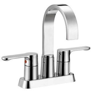 Designers Impressions Polished Chrome Bathroom Vanity Faucet  #685564