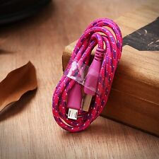 1M 3ft Braided Fabric Micro USB Data&Sync Charger Cable Cord For Samsung gbm07