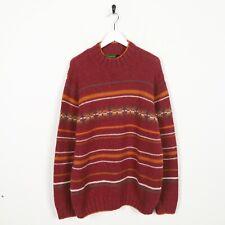 Vintage TIMBERLAND Roll Neck Knitted Sweatshirt Jumper Red | Medium M