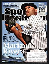 "Mariano Rivera Autographed Sports Illustrated Yankees ""HOF 19"" MLB JD495271"