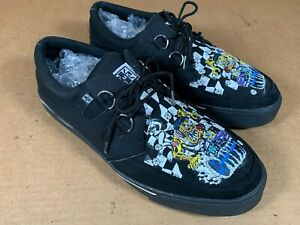 T.U.K. Shoes A8344 Mitch O'Connell Dragster Creeper Sneakers Men's 12 Gasser Car