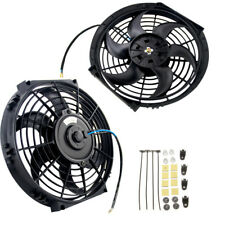 "10"" 80W Universal Slim Engine Radiator Oil Cooling Electric Pull Push Fan Blades"