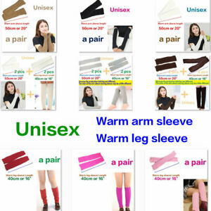 Knit Fingerless Gloves Hand Wrist Elbow Long Warm Mitten Leg Cover Cold Protect