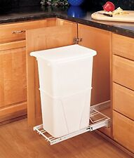 Rev-A-Shelf - RV-12PB-50 - Single 50 Qt. Pull-Out White Waste Container with 3/4