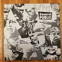 GENERAL PUBLIC Too Much Or Nothing PROMO 1986 Ex Vinyl Lp VG Record Cover