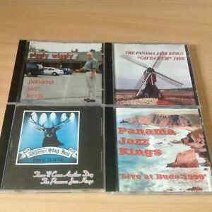 4 X Panama jazz kings CDs  piggly wiggly ,stag Inn ,Bude 99,Go Dutch 98, Bundle