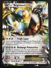 Carte Pokemon REGISTEEL 81/124 Holo EX Ultra Rare Noir et Blanc Française NEUF