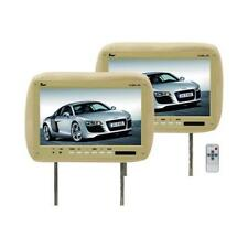 "Tview T110pltan 11.2"" Tan Car Headrest Widescreen Lcd Monitors W/ Remotes 8A71"