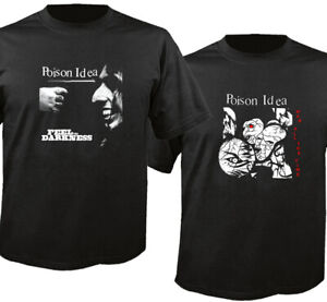 Poison Idea Feel The Darkness Black Cotton T-Shirt