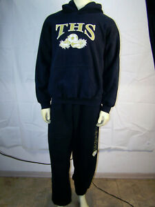 Gildan Heavy Blend Hoodie Sweatshirt & Sweatpants Set Cotton TITANS V SOCCER